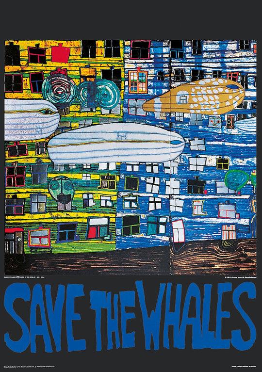 buy hundertwasser original poster save the whales