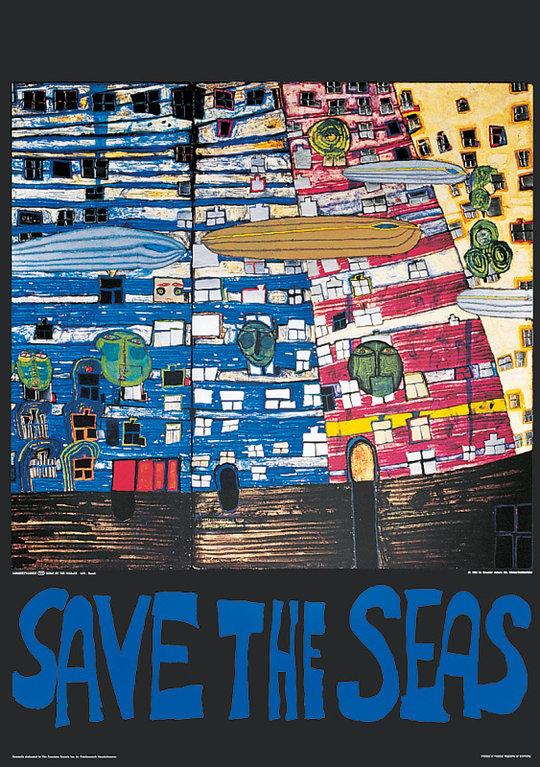 buy hundertwasser original poster save the seas. Black Bedroom Furniture Sets. Home Design Ideas