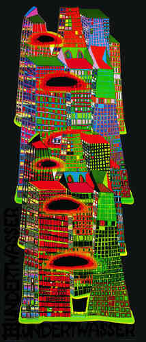 Hundertwasser Originalposter Good morning city (nach Oeuvre 686)