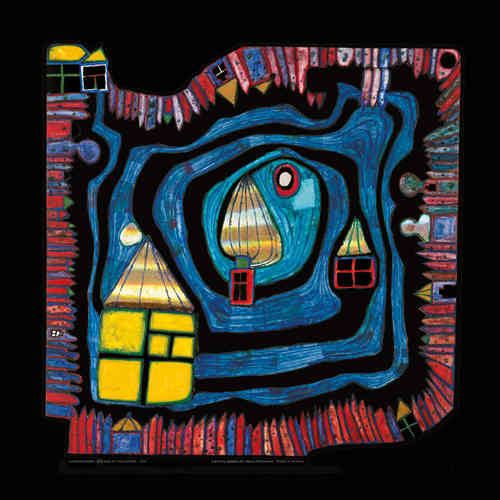 Hundertwasser Kunstdruck - End of the waters (nach Oeuvre 808)