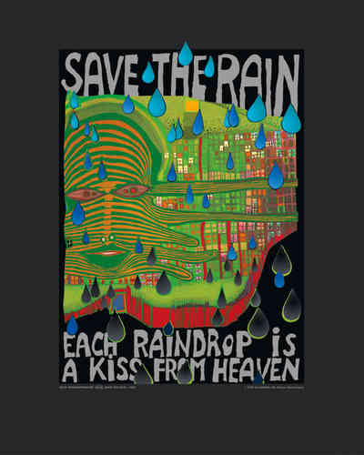 Hundertwasser Kunstdruck - Save the Rain (nach Oeuvre 690)