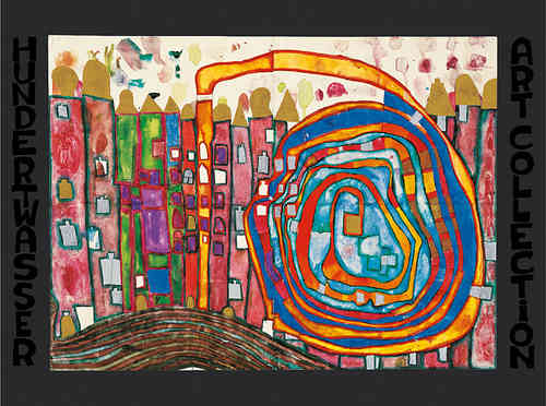 Hundertwasser Kunstdruck - Who has eaten all my windows (nach Oeuvre 970)
