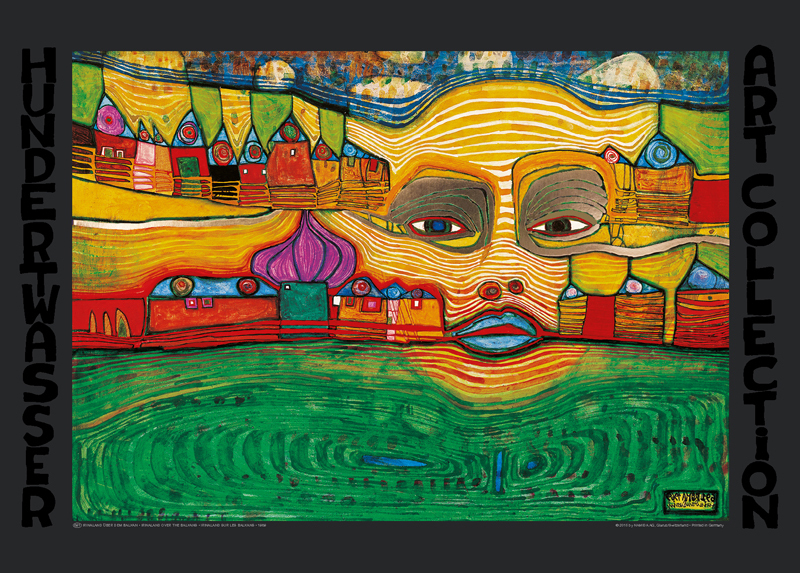 hundertwasser irinaland poster or art print. Black Bedroom Furniture Sets. Home Design Ideas
