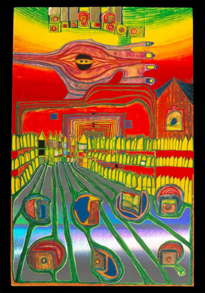 Sensational Buy Hundertwasser Postcard Street For Survivers Funny Birthday Cards Online Drosicarndamsfinfo