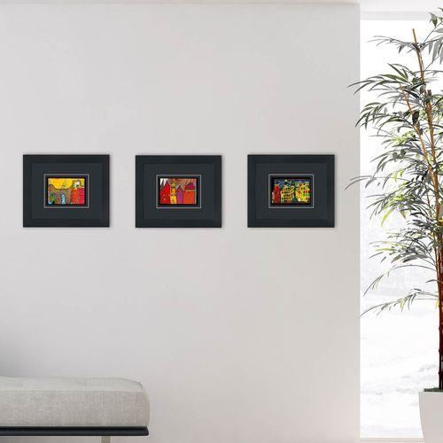 hundertwasser bilder mit rahmen kaufen w rner verlag. Black Bedroom Furniture Sets. Home Design Ideas