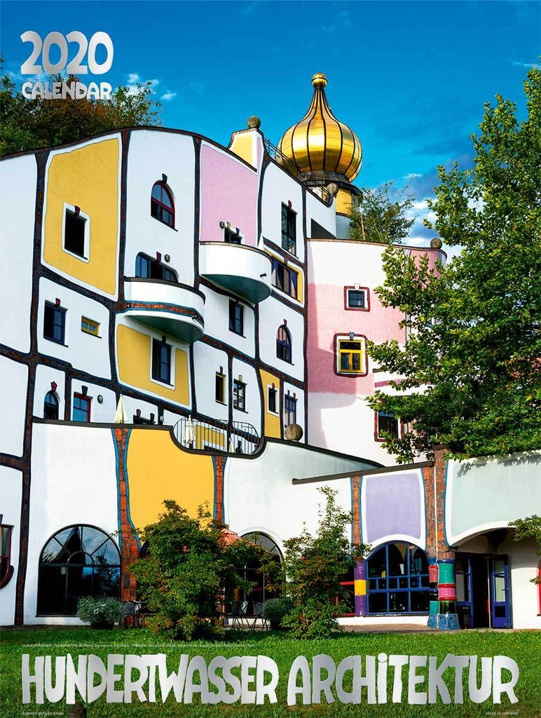 Calendario Estate 2020.Large Hundertwasser Architecture Calendar 2020