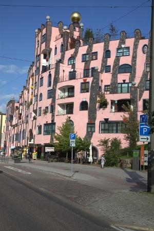 Hundertwasser architektur die gr ne zitadelle von for Hundertwasser architektur