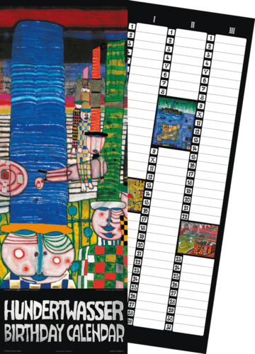 Hundertwasser Birthday Calendar (Internationale Version)