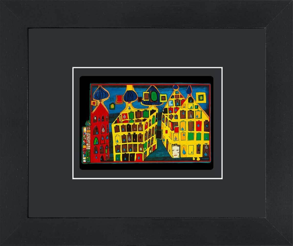 gerahmte Kunstkarten - Hundertwasser Bilder, Kunstdrucke und Kalender
