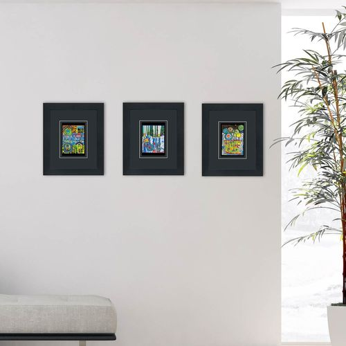 set of 3 framed art cards