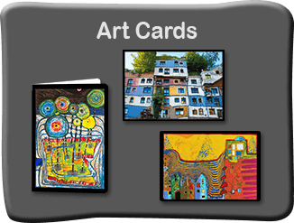 Hundertwasser Art Cards