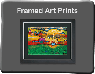 Framed Hundertwasser art prints
